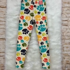 Pants - Dog Lover Paw Print Butter Soft One Size Leggings